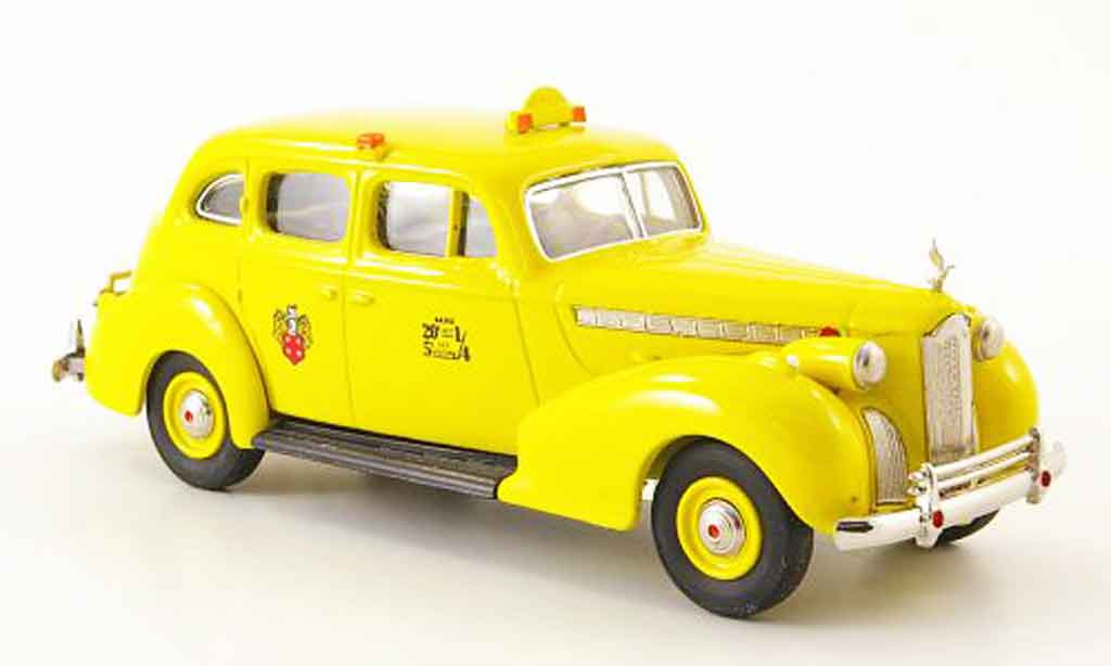 Packard Super 8 1/43 Rextoys Sedan Taxi jaune 1940 miniature