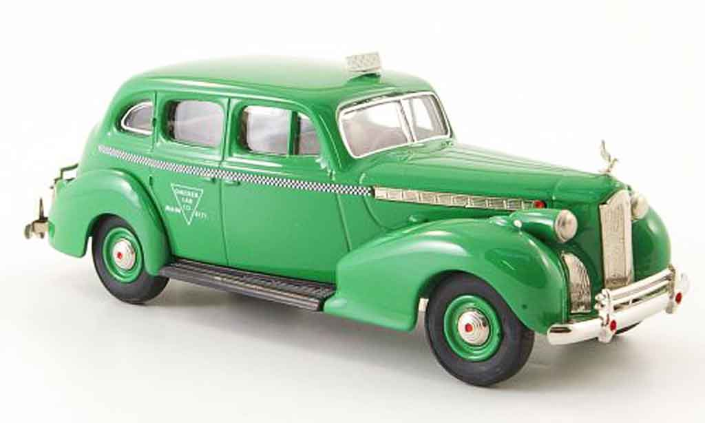 Packard Super 8 1/43 Rextoys Sedan Taxi grun Checker Cab 1940 miniature
