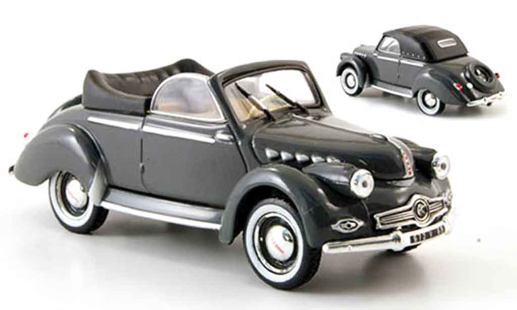 Panhard Dyna X 1951 1/43 Norev Cabriolet grise miniature