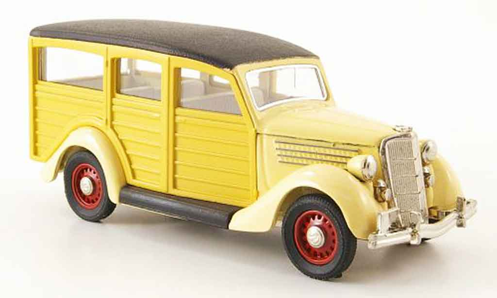 Ford 35 Type 1/43 Rextoys Station Wagon Woody beige 1935 miniature