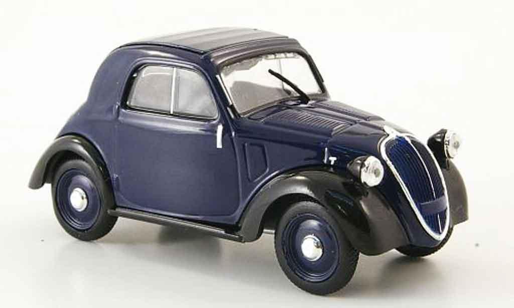 Fiat 500 A Topolino Blue Black Mcw Diecast Model Car 1 43