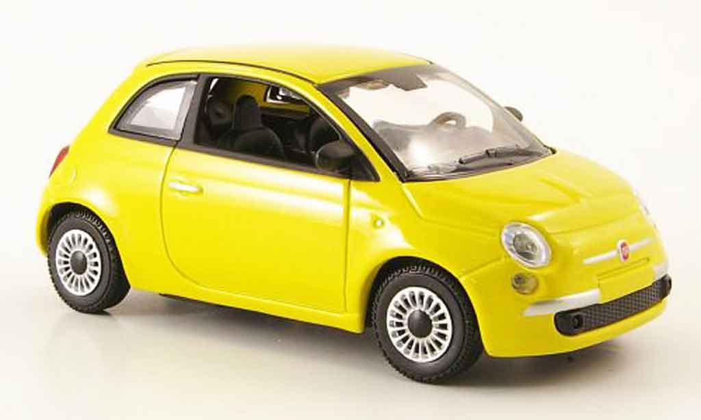 fiat 500 gelb mcw modellauto 1 43 kaufen verkauf. Black Bedroom Furniture Sets. Home Design Ideas