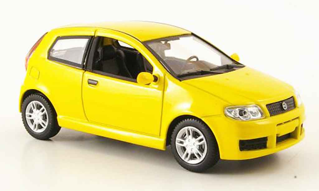 Fiat Punto Sporting Yellow Mcw Diecast Model Car 1 43