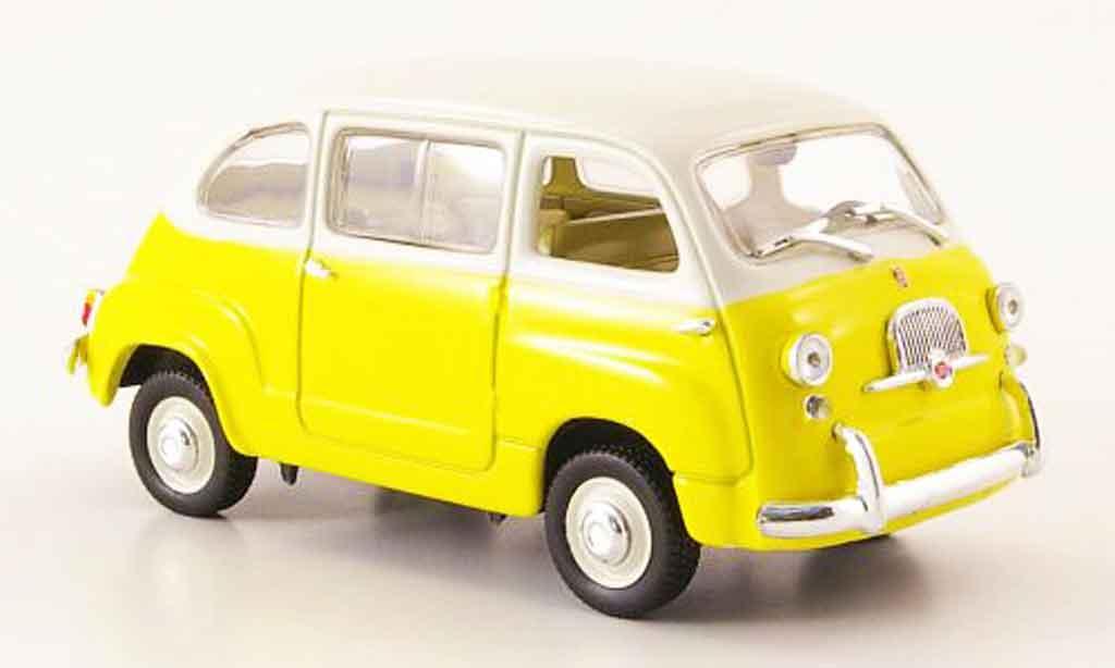 fiat 600 multipla gelb cremeweiss mcw modellauto 1 43 kaufen verkauf modellauto online. Black Bedroom Furniture Sets. Home Design Ideas