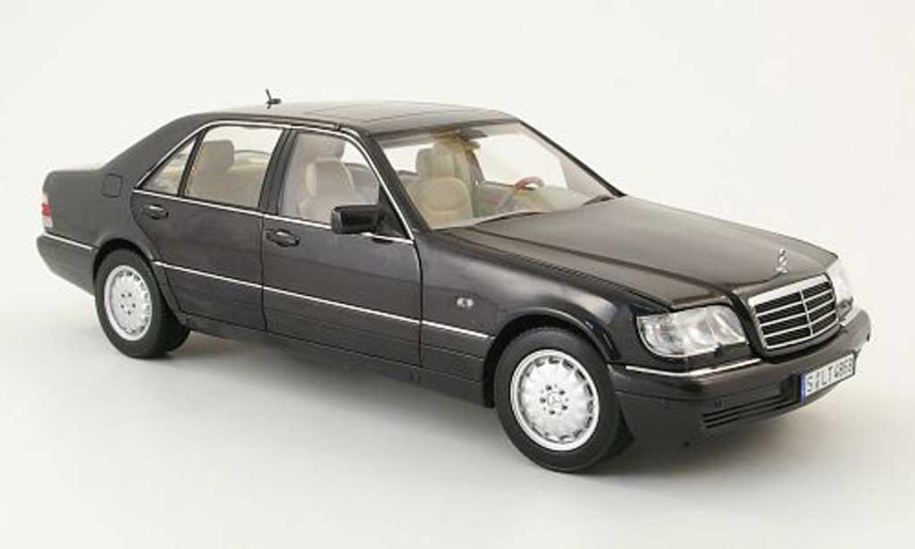 Mercedes s 320 w140 black 1994 norev diecast model car 1 for Miniature mercedes benz models