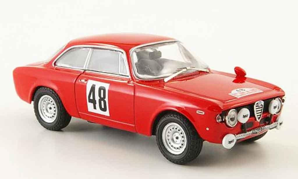Alfa Romeo Giulia 1600 GTA 1/43 M4 no.48 tour de corse 1966 miniature