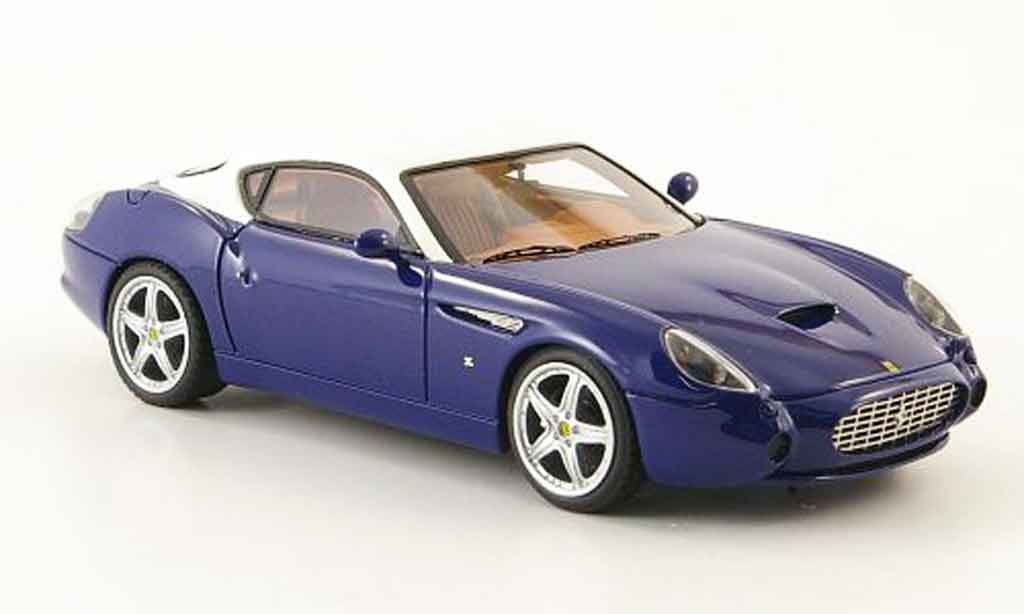 Ferrari 575 GTZ 1/43 Look Smart zagato bleu white diecast model cars