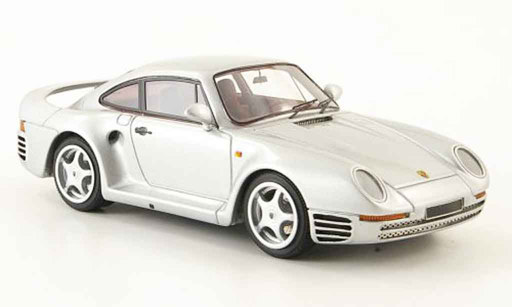 Porsche 959 1984 1/43 Look Smart grise metallisee miniature