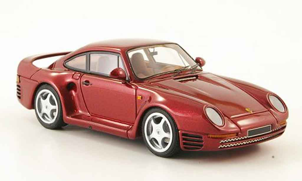 Porsche 959 1984 1/43 Look Smart rouge miniature