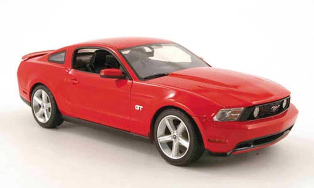 Ford Mustang GT 1/18 Greenlight red 2010 diecast model cars