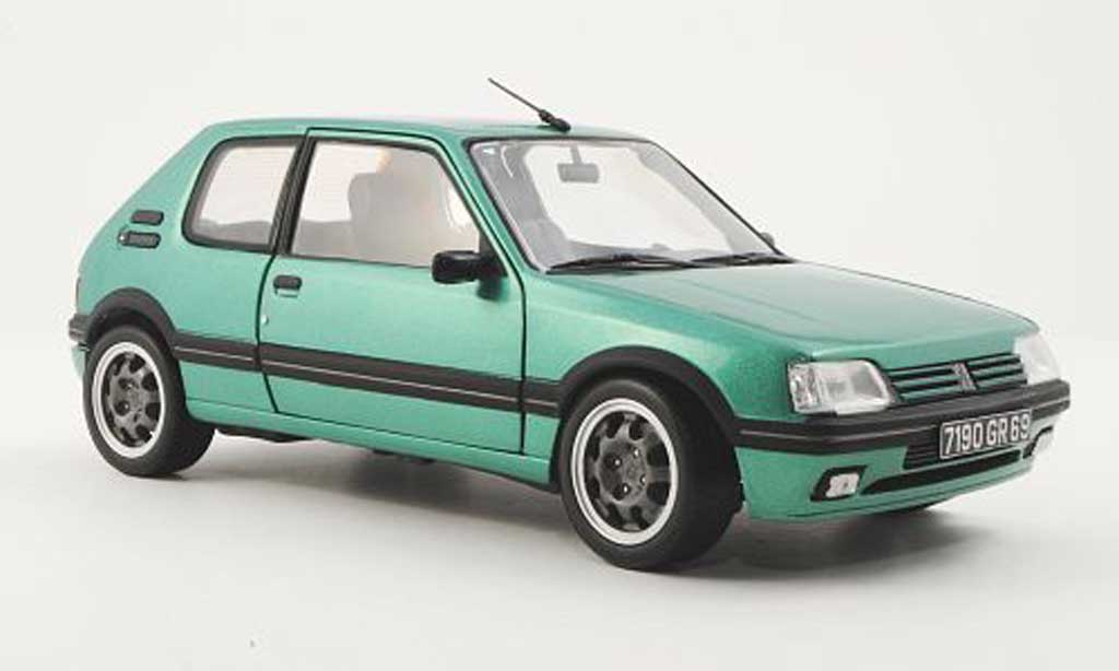 peugeot 205 gti griffe miniature verte 1990 norev 1 18 voiture. Black Bedroom Furniture Sets. Home Design Ideas