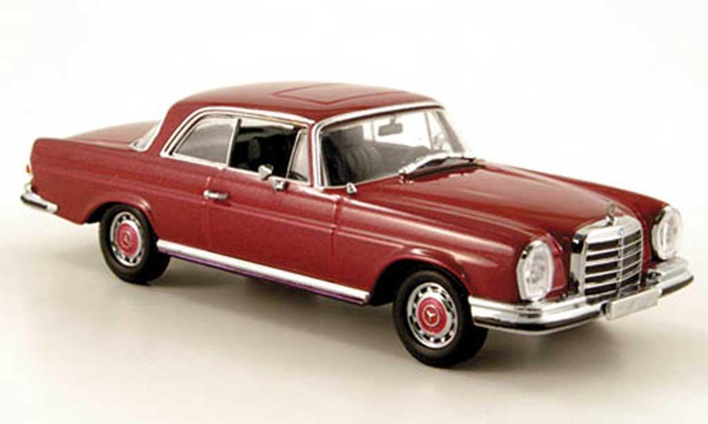 Mercedes 280 SE 1/43 Minichamps 3.5 Coupe (W111) rouge Sondermodell MCW 1970 miniature