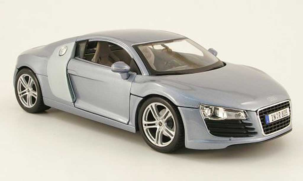 Audi R8 5.2 FSI 1/18 Maisto grau clair modellautos