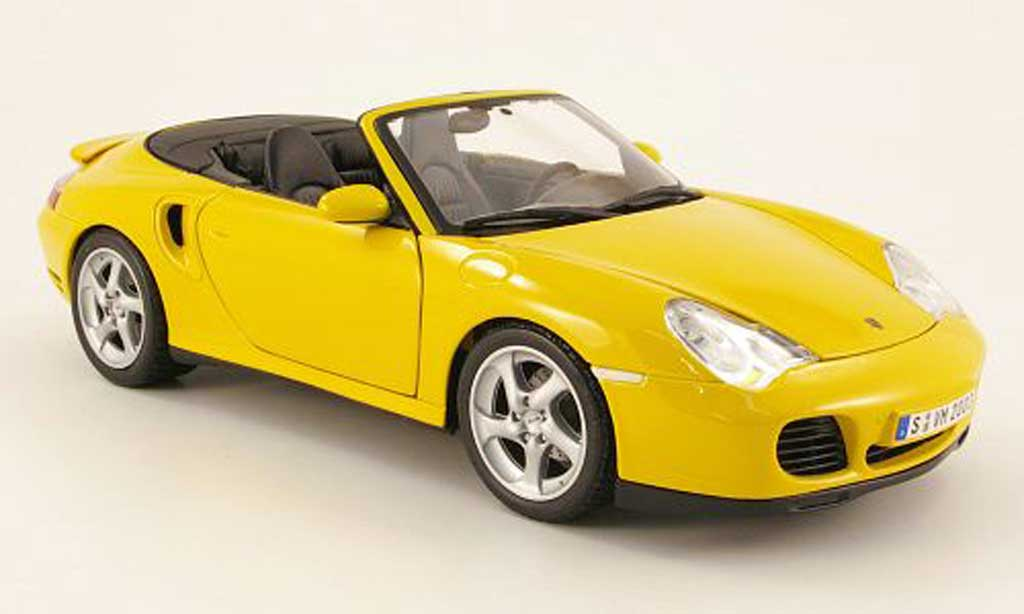 Porsche 996 Turbo 1/18 Maisto cabriolet yellow 2003 diecast model cars