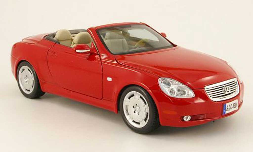 Lexus SC 430 1/18 Maisto rouge decapotable 2001 miniature