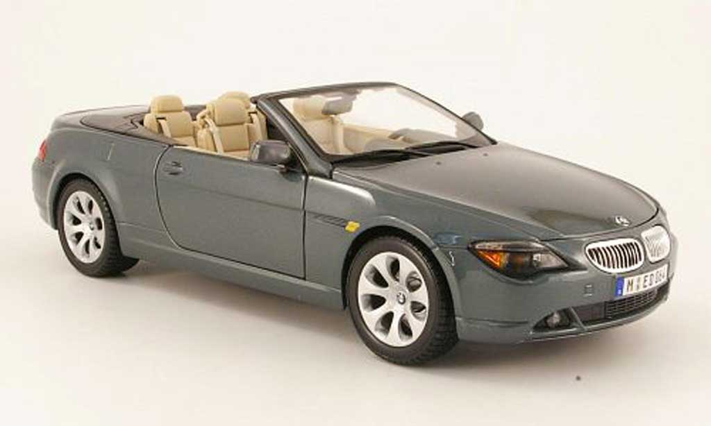 Bmw 645 E64 1/18 Maisto ci cabriolet grey 2004 diecast model cars