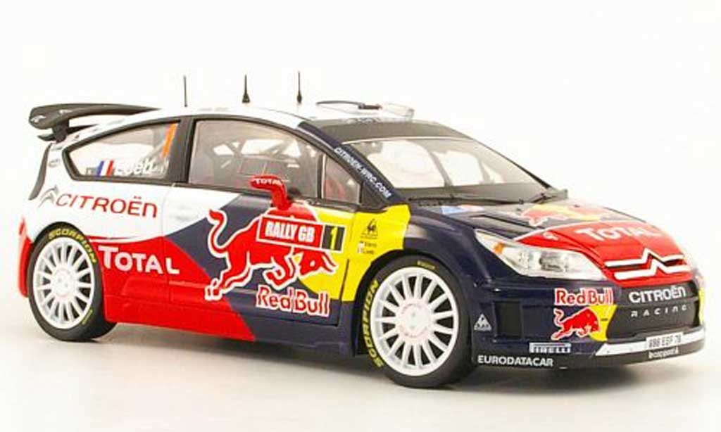 Citroen C4 WRC 2009 1/18 Norev No.1 Total / Red Bull S.loeb / D.Elena Rally GB miniature