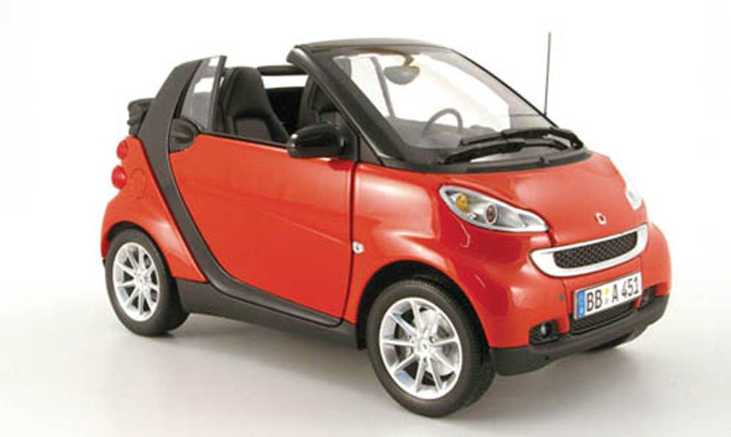 Smart ForTwo 1/18 Minichamps cabriolet rouge 2007 miniature