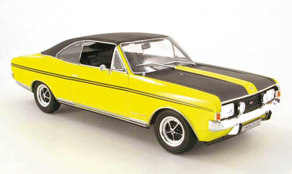 Opel Commodore A 1/18 Revell gs/e yellow/noir diecast model cars