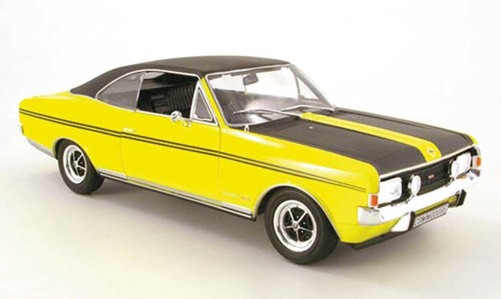 Opel Commodore A 1/18 Revell gs/e jaune/noir miniature