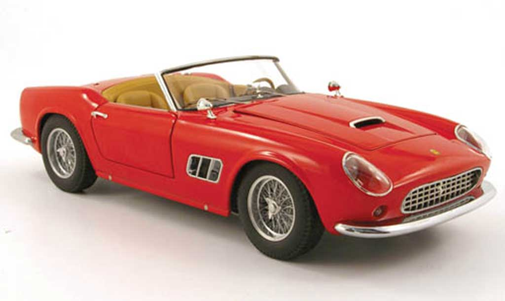 Ferrari 250 GT California 1/18 Hot Wheels spider roja
