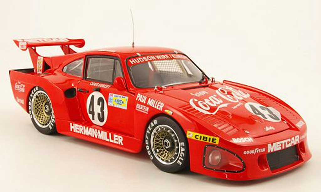Porsche 935 1981 k3 no.43 coca cola 24h  le mans akin/miller/siebert TrueScale Miniatures. Porsche 935 1981 k3 no.43 coca cola 24h  le mans akin/miller/siebert Coca Cola miniature 1/18