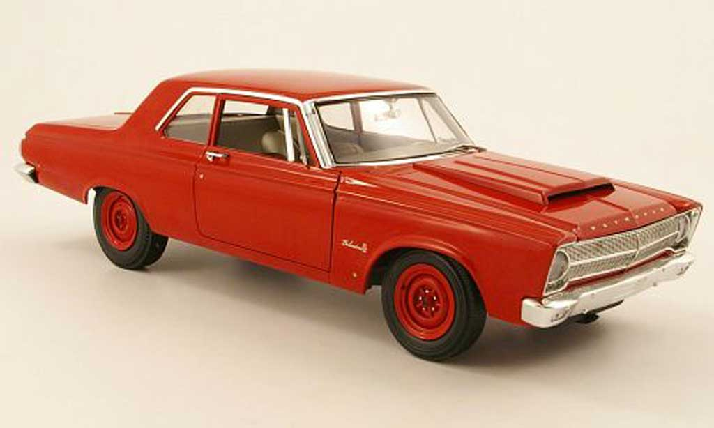 Plymouth Belvedere 1/18 Highway 61 ii r01 rouge 1965 miniature