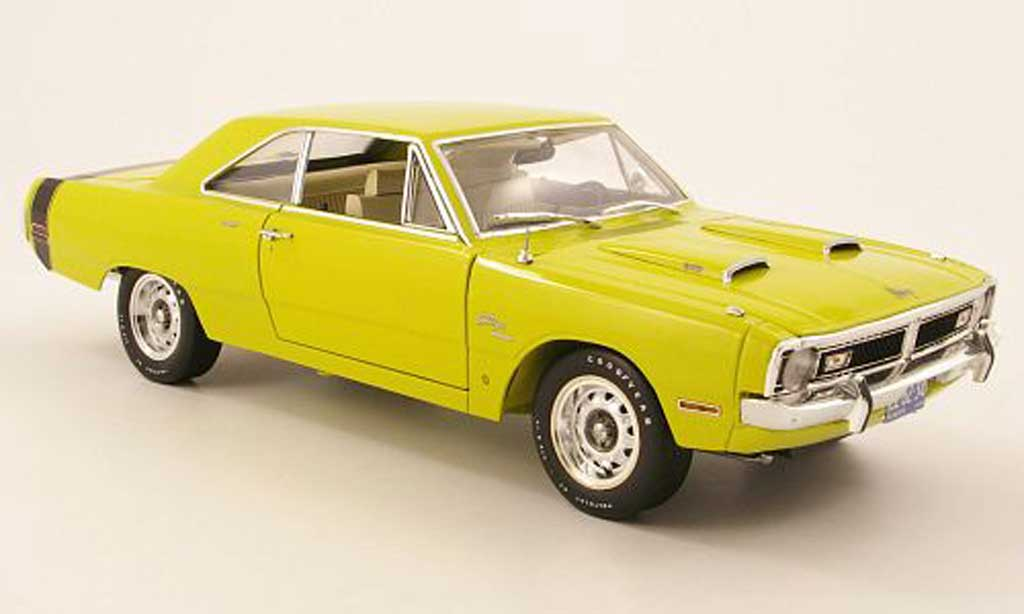 Dodge Dart 1971 1/18 Highway 61 340 swinger special yellow grun diecast model cars