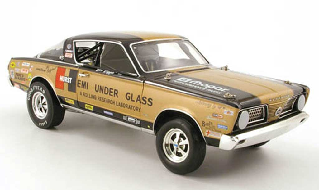 Plymouth Barracuda 1966 1/18 Highway 61 hurst hemi under glas bob riggle miniature