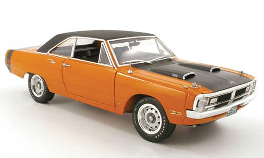 Dodge Dart 1970 1/18 Highway 61 swinger orange/noir diecast model cars