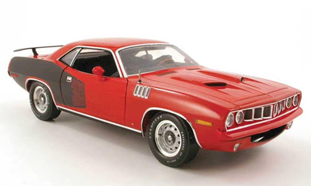 Plymouth Cuda 1971 1/18 Highway 61 383 rouge/noir miniature