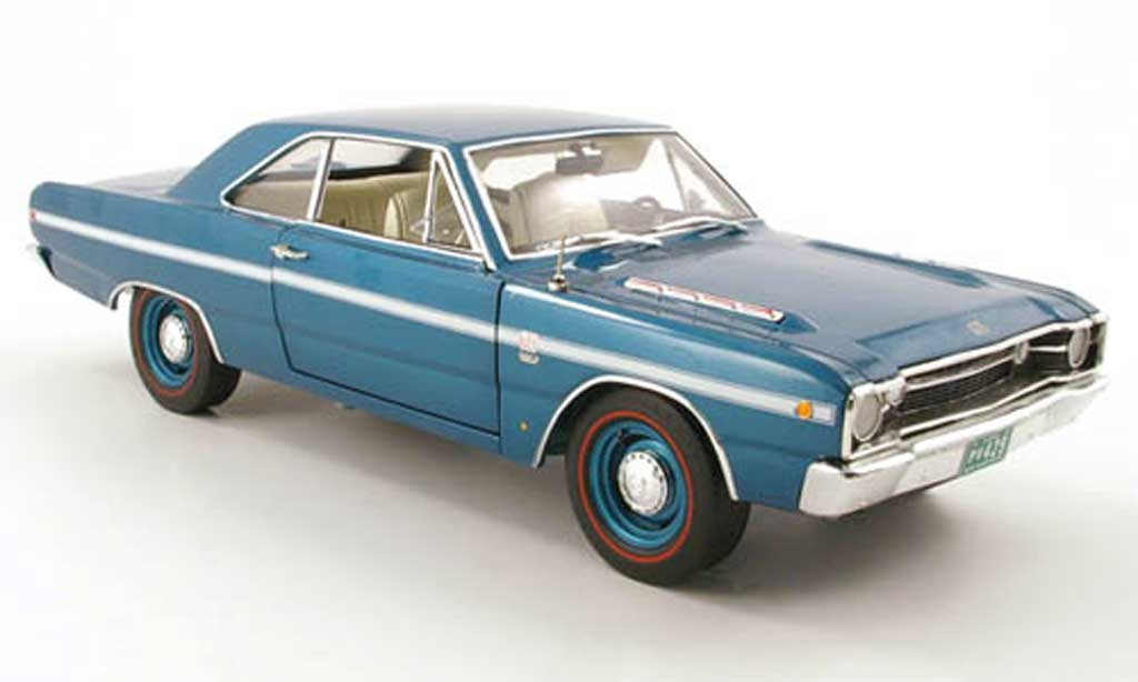 Dodge Dart 1968 1/18 Highway 61 gt sport turkis diecast model cars