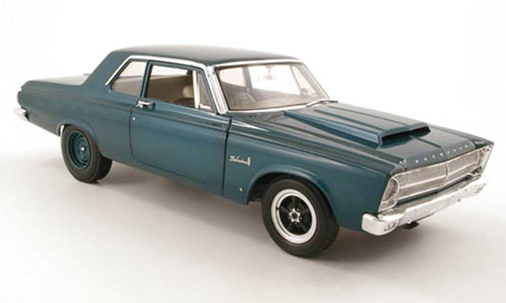 Plymouth Belvedere 1/18 Highway 61 turkis 1965 miniature