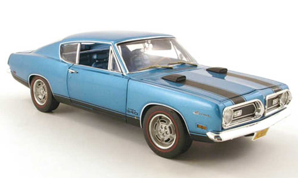 Plymouth Barracuda 1969 1/18 Highway 61 1969 340 bleu miniature