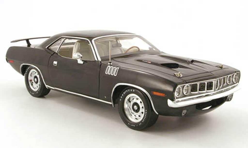 Plymouth Cuda 1971 1/18 Highway 61 383 noir miniature