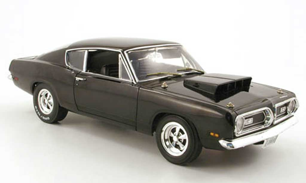 Plymouth Barracuda 1969 1/18 Highway 61 1969 440 noir miniature