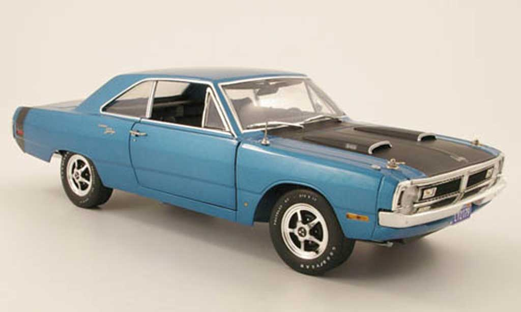Dodge Dart 1970 1/18 Highway 61 swinger bleu diecast model cars