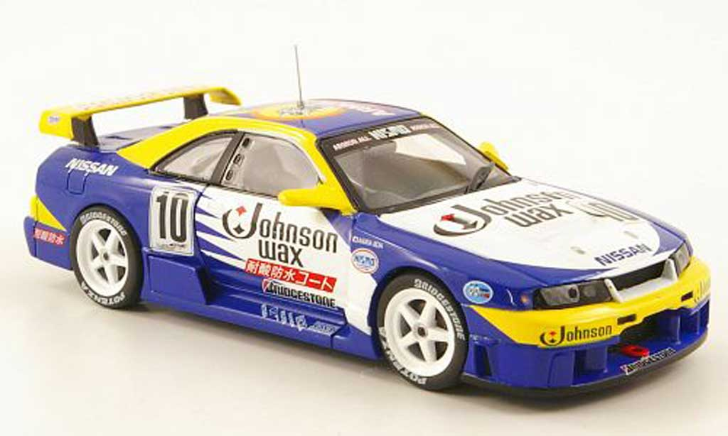 Nissan Skyline R33 1/43 Ebbro GT-R No.10 Johnson Wax JGTC 1995 miniature