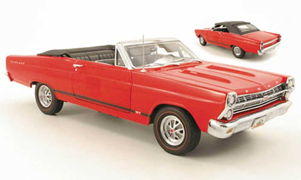 Ford Fairlane 1967 1/18 GMP gt 390 rouge miniature