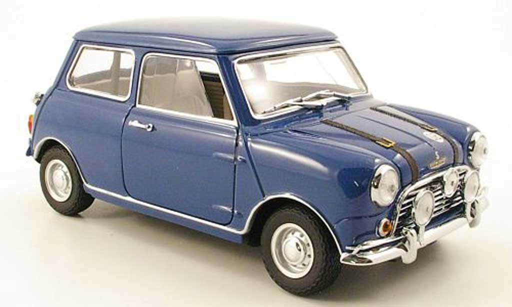austin mini cooper s miniature mk1 bleu kyosho 1 18 voiture. Black Bedroom Furniture Sets. Home Design Ideas
