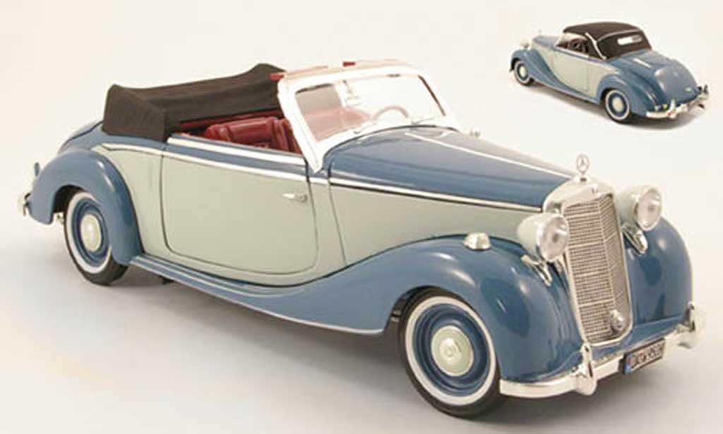 Mercedes 170 1/18 Spark s cabriolet (w191) bleu/grise 1950 miniature