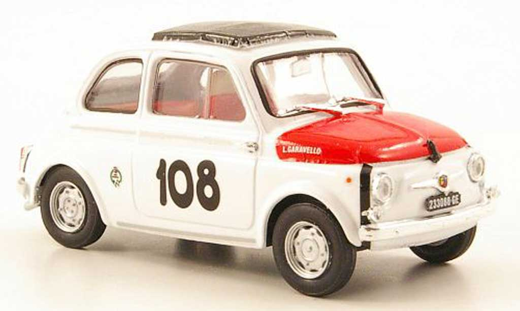 Fiat 595 1/43 Brumm Abarth No.108 Coppa Gallega 1965 miniature