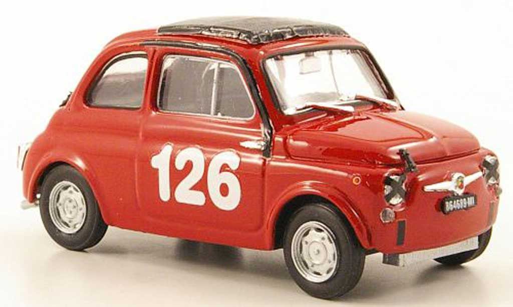 Fiat 595 1/43 Brumm Abarth No.126 Vallelunga 1965 diecast model cars
