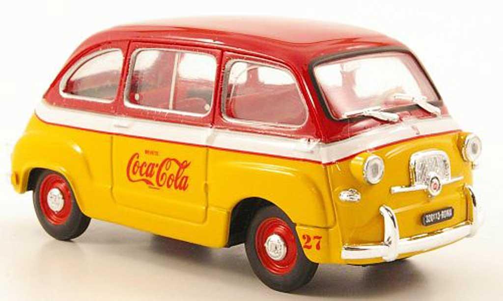 Fiat 600 1/43 Brumm D Multipla Coca Cola Olympiade Rom 1960 modellautos