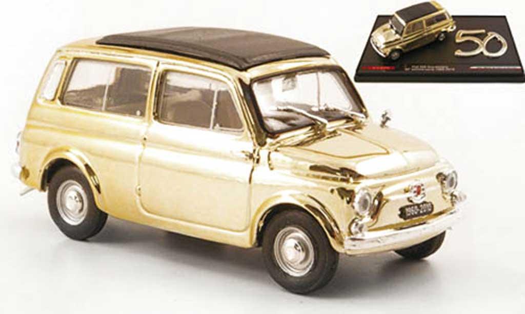 Fiat 500 1/43 Brumm Giardiniera gold diecast model cars