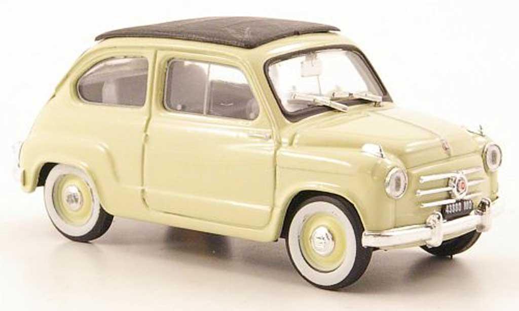 Fiat 600 1/43 Brumm jaune geschlossen 1956 miniature