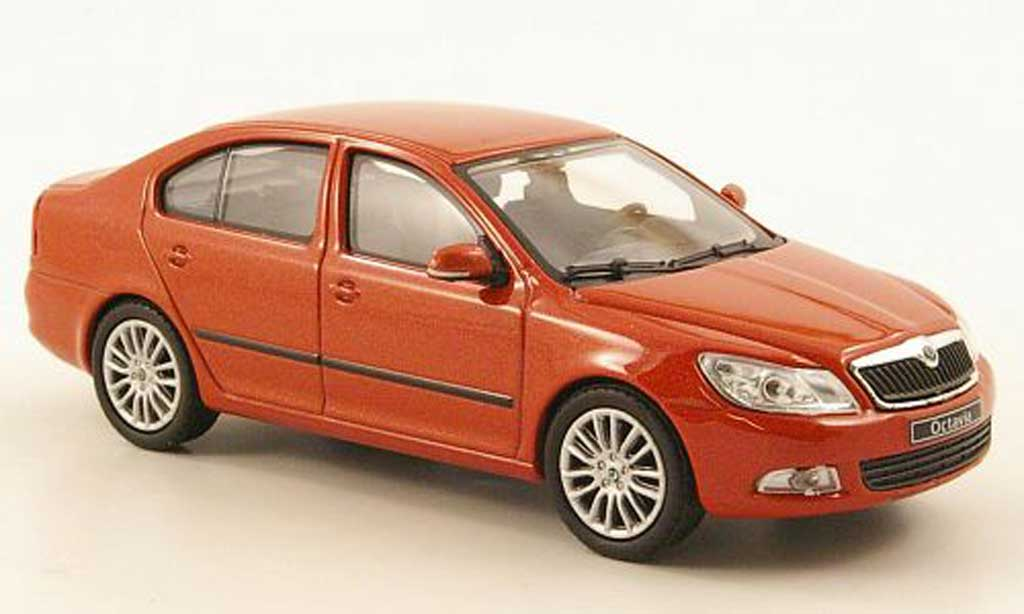 skoda octavia miniature orange abrex 1 43 voiture. Black Bedroom Furniture Sets. Home Design Ideas