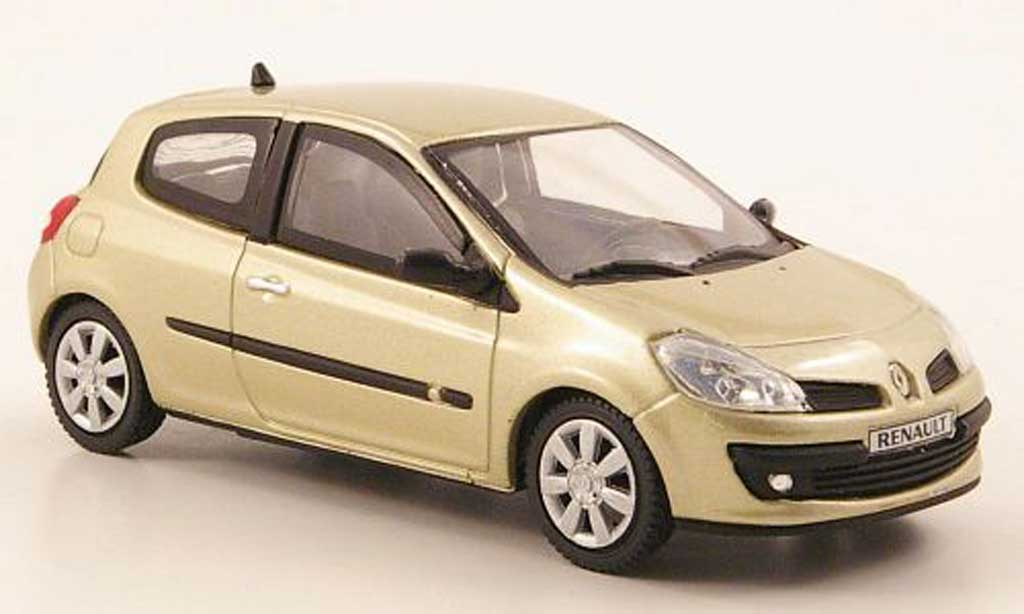 renault clio iii miniature beige 3 portes 2005 eligor 1 43. Black Bedroom Furniture Sets. Home Design Ideas