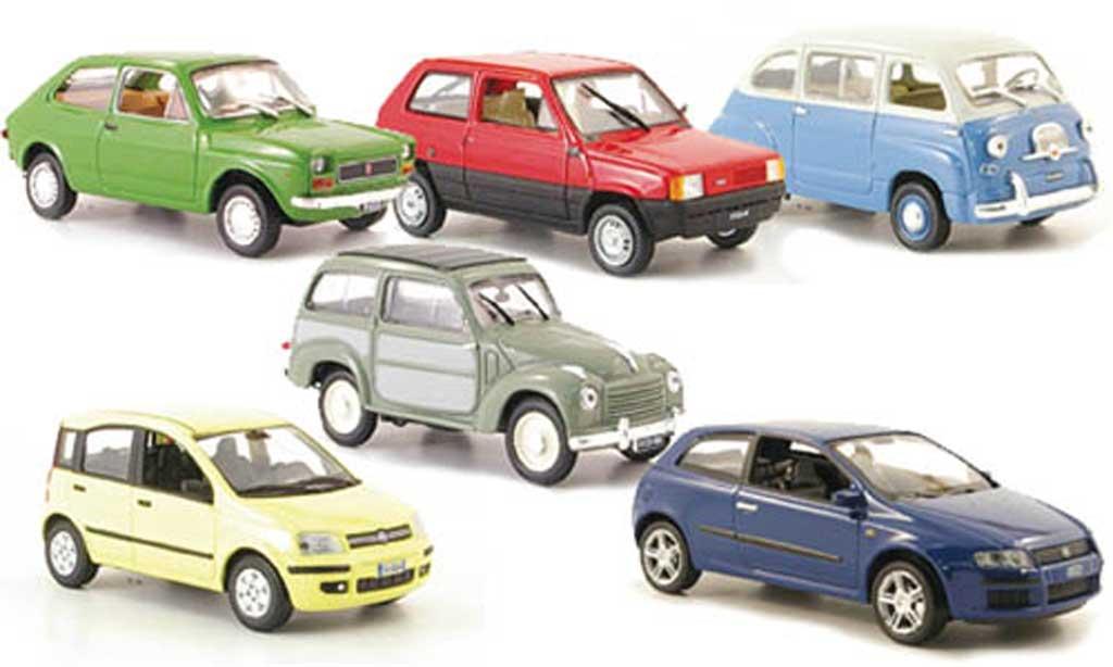 Fiat 500 1/43 Hachette 6er-Set: 127 600 Multipla Panda Belvedere miniature