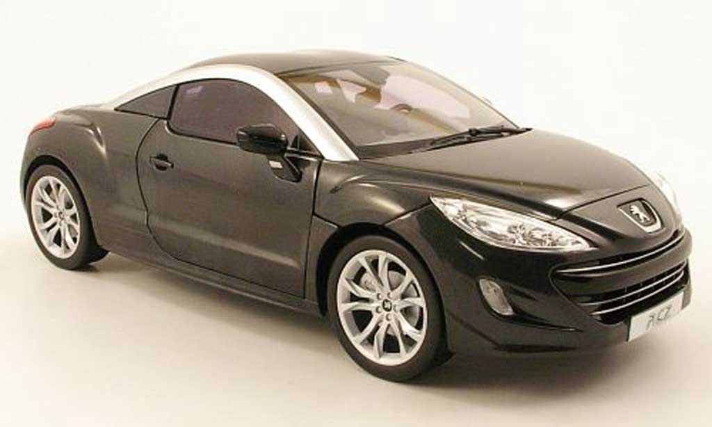 peugeot rcz miniature grise 2010 norev 1 18 voiture. Black Bedroom Furniture Sets. Home Design Ideas
